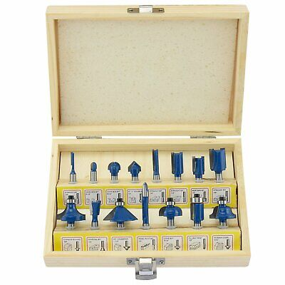 Every Day 15Pc Router Bit Set Wood Working 1/4'' Shank Roman Ogee Tools Routers