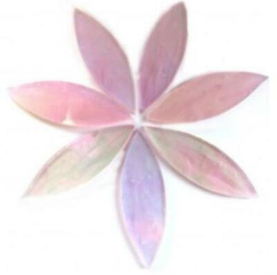 Large Pink Tiffany Stained Glass Petals - Mosaic Tiles Supplies Art Craft