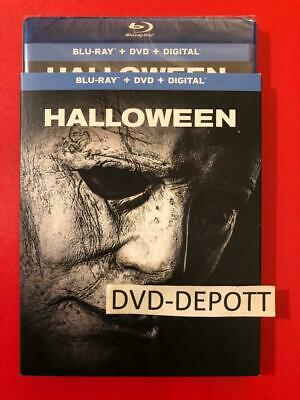 Halloween [2018] (Blu-ray + DVD + Digital HD & Slipcover New FAST Free Shipping
