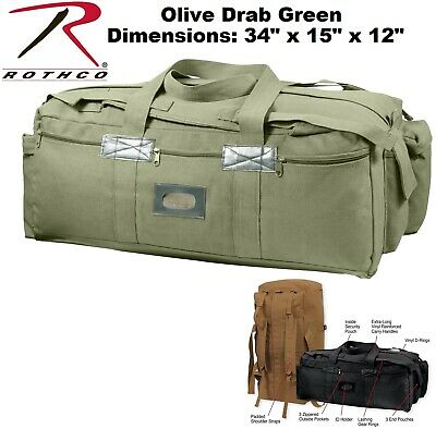 Olive Drab Heavy Duty Canvas Israeli Mossad Duffle Bag W Shoulder Straps  8136 e76a1e97286f9