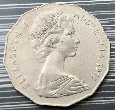 1973 Australian 50 Cent Coin - Low Mintage - Ef
