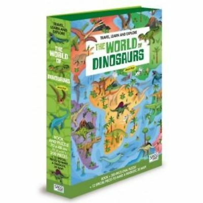Sassi Travel Learn & Explore World of Dinosaurs Book & Puzzle