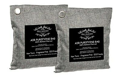 2 Pack - 200g Relaxory Activated Nano Bamboo Charcoal Bag 100% Natural Odor Abso