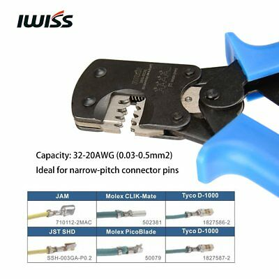 IWS-3220 Ratchet Crimping Pliers Crimper Tools for Narrow-pitch Connector Pins