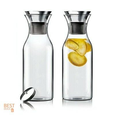 Decanting Pourer Enthusiast Decanter Water Juice Drinks Carafe Glass Premium NEW