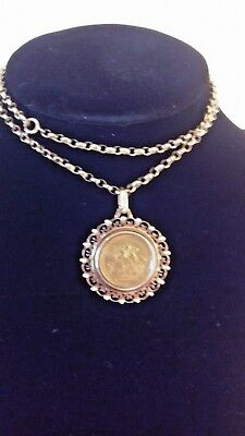 1820 King George III Sovereign, in a Gold Pendent and Gold Chain