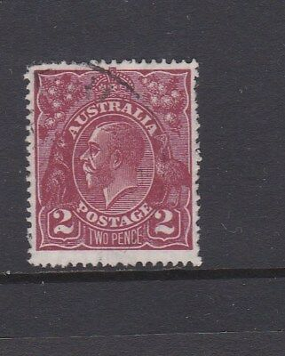 Australia 1927 2d BROWN KGV HEAD Small Multi watermark  PERF 14 stamp  FINE USED