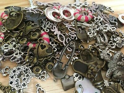 50g Mixed Charms Joblot Clearence Jewellery Making Random