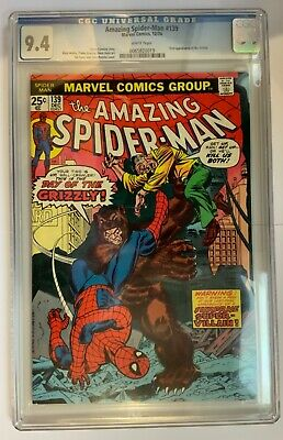 Amazing Spider-Man 139 CGC 9.4 ***WHITE PAGES*** December 1974 - 1st Grizzly