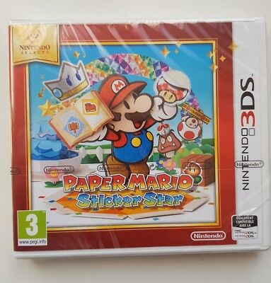 Paper Mario : Sticker Star Nintendo Selects 3DS XL 2DS / NEUF , SOUS BLISTER  /