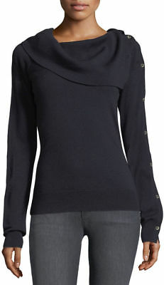 c3f2ed09ff4a NWT THEORY EVIAN Stretch Foldover Off-the-Shoulder Knit Top P XS RRP ...
