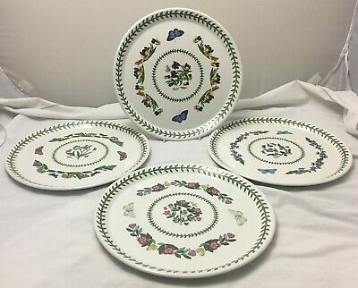 Portmeirion Botanic Garden - large multi pattern dinner plates 27.5cm EXCELLENT