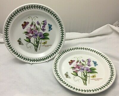 "Portmeirion Botanic Garden - 2 dinner plates 10.5""  Excellent"