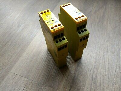 2 x PILZ PN0Z X7 774053 110VAC Emergency Stop Safety Relay used good condition