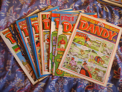 DANDY COMICS x 15 (1998-2002) - INCLUDES CHRISTMAS 2001 - NUMBERS LISTED BELOW