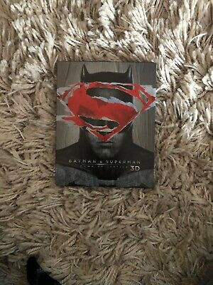 Batman v Superman Ultimate Edition, 3 Disc 3D and 2D Steelbook Blu-Ray