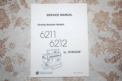 Singer Sewing Machines 6211 6212 Service Manual on CD in PDF Format