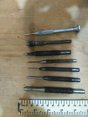 Punches - Job Lot of 5 plus an Eclipse pin vice and mini screwdriver.