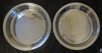 """LOT of TWO -- PYREX #209 Clear Glass 9"""" x 1.25""""  Pie / Tart Pans / Plates"""