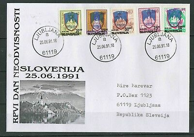 Slovenia 1991 ☀ FDC - Independence of Slovenia ☀ Private issue