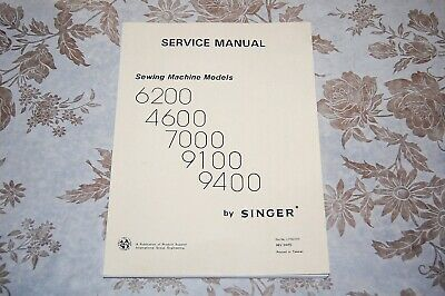 Singer Sewing Machines 9117 9123 9124 9130 9133 9137 9143 Service Manual on CD