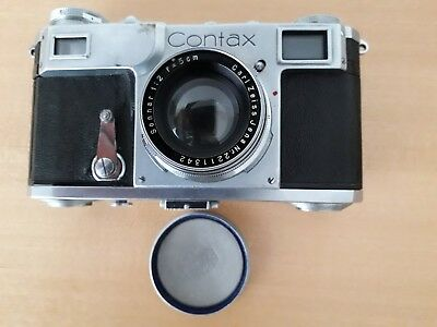 Zeiss Ikon Contax II 35mm Camera, 1936, with Leather Case. Very Good Condition