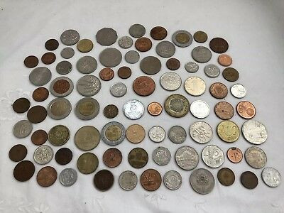 Vintage LOT Of Various Foreign Currency COINS Many Countries