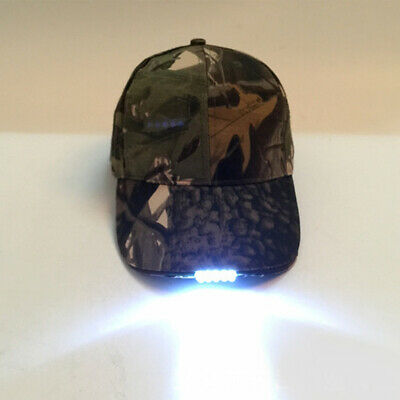Baseball  Cap With 5 LED Light Hat Fishing Camping Caving Hiking Adjustable Hat