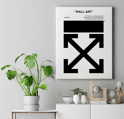 Off-White WALL ART Custom STRETCHED Canvas Virgil Abloh Nike Air Supreme Poster