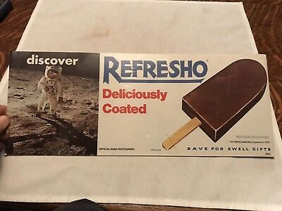 Nasa Photograph 1971 Paper Sign, Refresho Ice Cream Bar, Popsicle Ind.