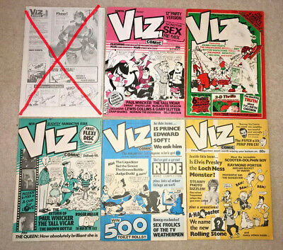 Bundle of 5 x 1980s VIZ COMICS #12a 15 18 22 23 Original, genuine and rare