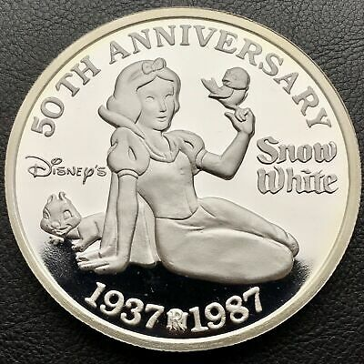 Walt Disney's Snow White 50th Anniversary 5 oz .999 Coin Only 5,000 Made