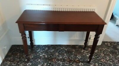 Mahogany Side/Serving Table. Late Victorian Antique/ Medium Size/ Storage Drawer