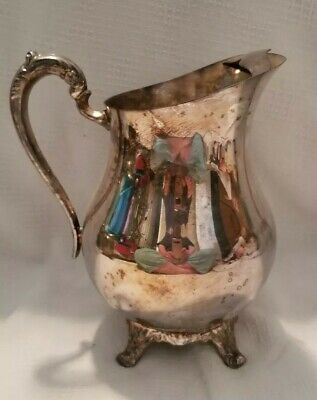 Vintage F.B. Rogers Silver Co. Water Pitcher 1883 Crown Trademark Ice Guard 2507
