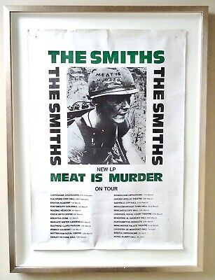 The Smiths UK Tour Poster - Meat Is Murder - 1985 - Framed - Original & Rare