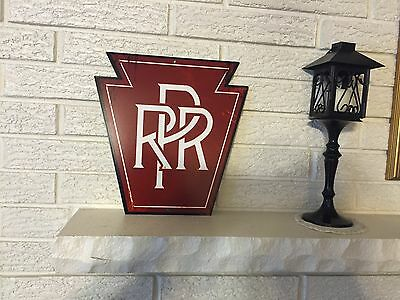 "Pennsylvania Railroad Keystone Herald Logo Heavy Steel Sign 12"" x 12"" Cutout DL"