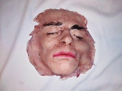 Silicone movie prop ripped off face special effect horror gore halloween haunt