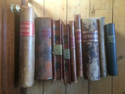 9 Antique Ledgers