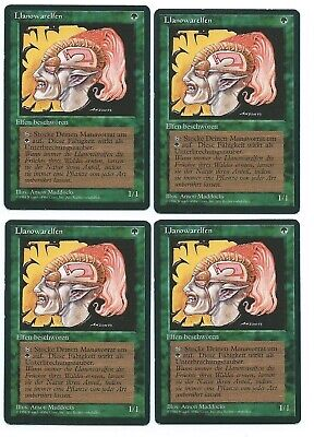 MTG 4x LLANOWAR ELVES 6th Edition *DEUTSCH*