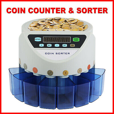Automatic Electronic Coin Counter Sorter Currency Money Counting Machine GBP UK