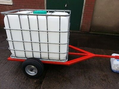 Trailer water bowser tank Land rover ATV quad gator tractor drinking 600L IBC