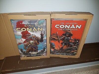 Colossal Conan the Cimmerian & Colossal King Conan SET Hardcovers SEALED