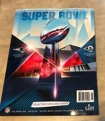 Super Bowl 53 LIII Official Game Program Patriots vs Rams SHIPPED IN A BOX 2019