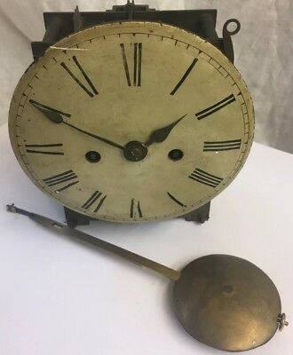 "Double Fusee Clock Movement & 6""Convex Dial + Pendulum"