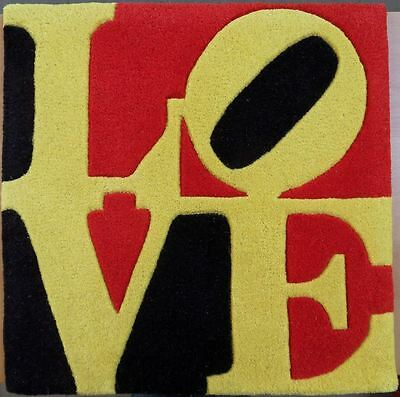 Robert INDIANA : Love - WOOL RUG #SIGNED LIMITED EDITION # COA [LIEBE LOVE]