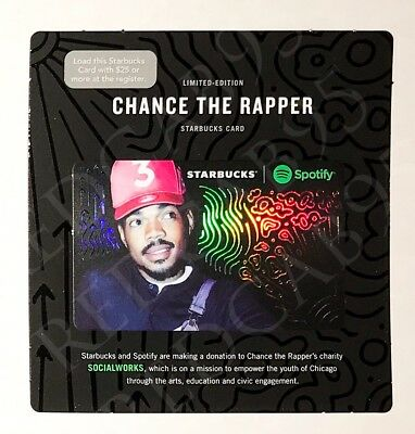 Starbucks Gift Card & Spotify LE Chance The Rapper NEVER SWIPED NEW HTF