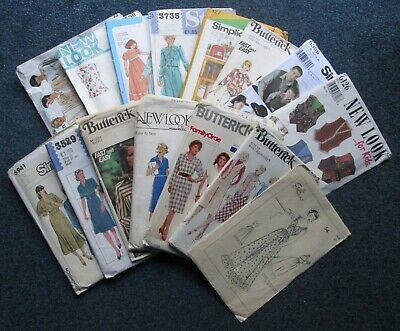 Job lot of sewing patterns. 15 mixed vintage & modern. Womens, mens, girls, boys