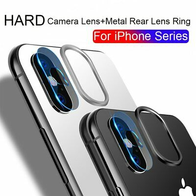 Camera Lens Screen Protector Cover Tempered Glass Metal Rear For iPhone X XS MAX