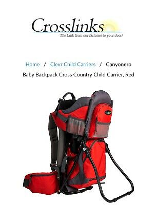 Clevr CRS600202 Baby Backpack - Red