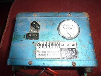 Classic 12 V 6 V  Small Classic Car Workshop battery charger Untested  NR